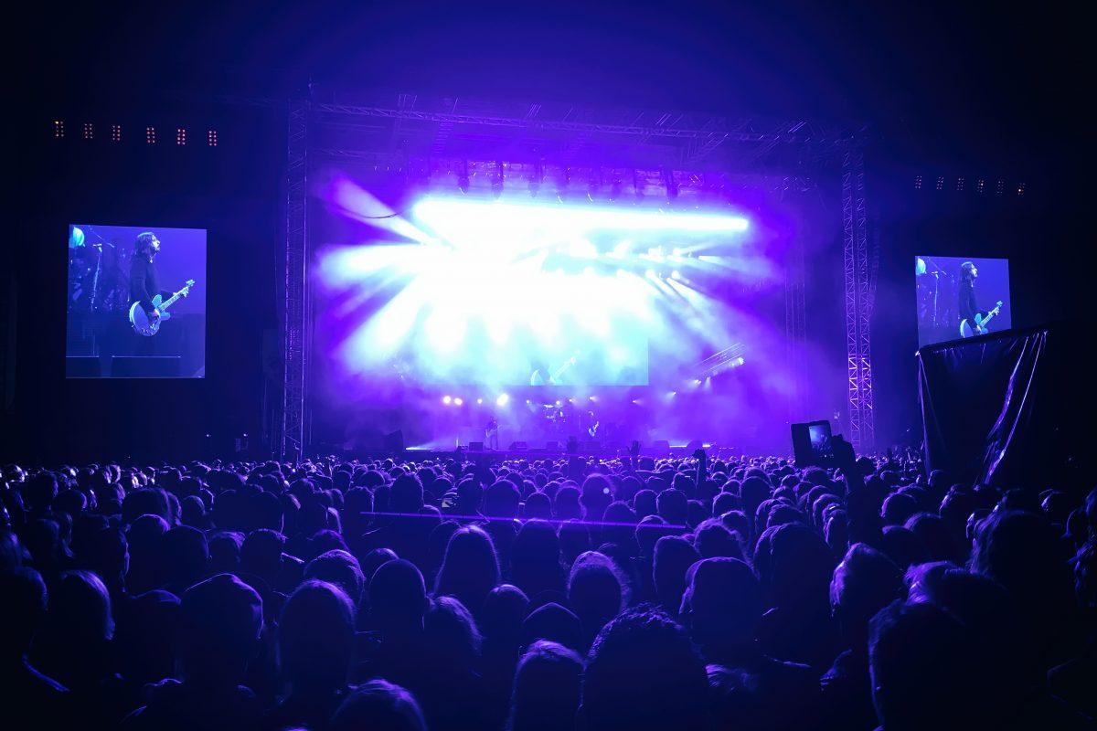 Pilt Foo Fightersi Riia kontserdilt