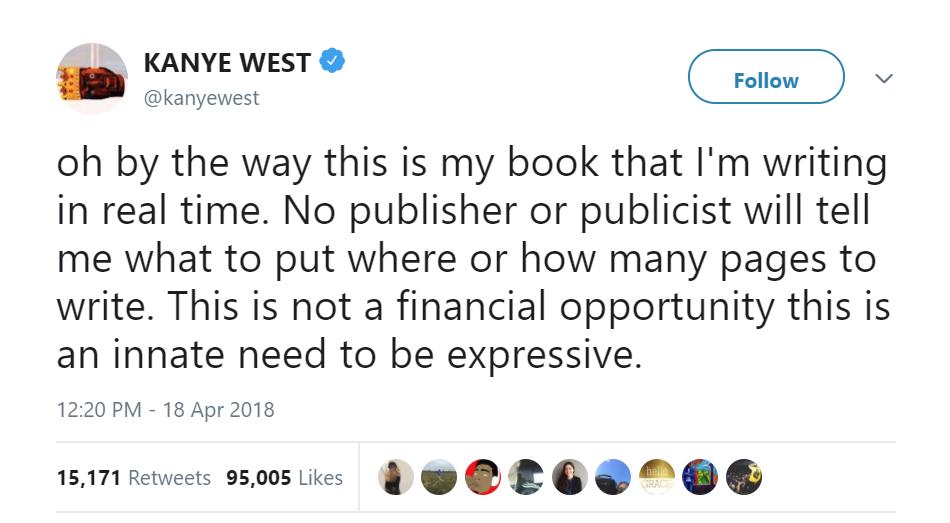 Kanye West twitteris